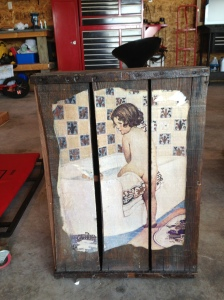 Decoupage cabinet from flea market.