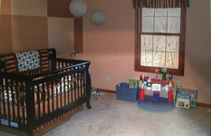 The baby room completed. Stay tuned for the transition to the boy room.