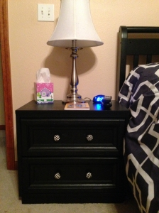 The finished nightstand.